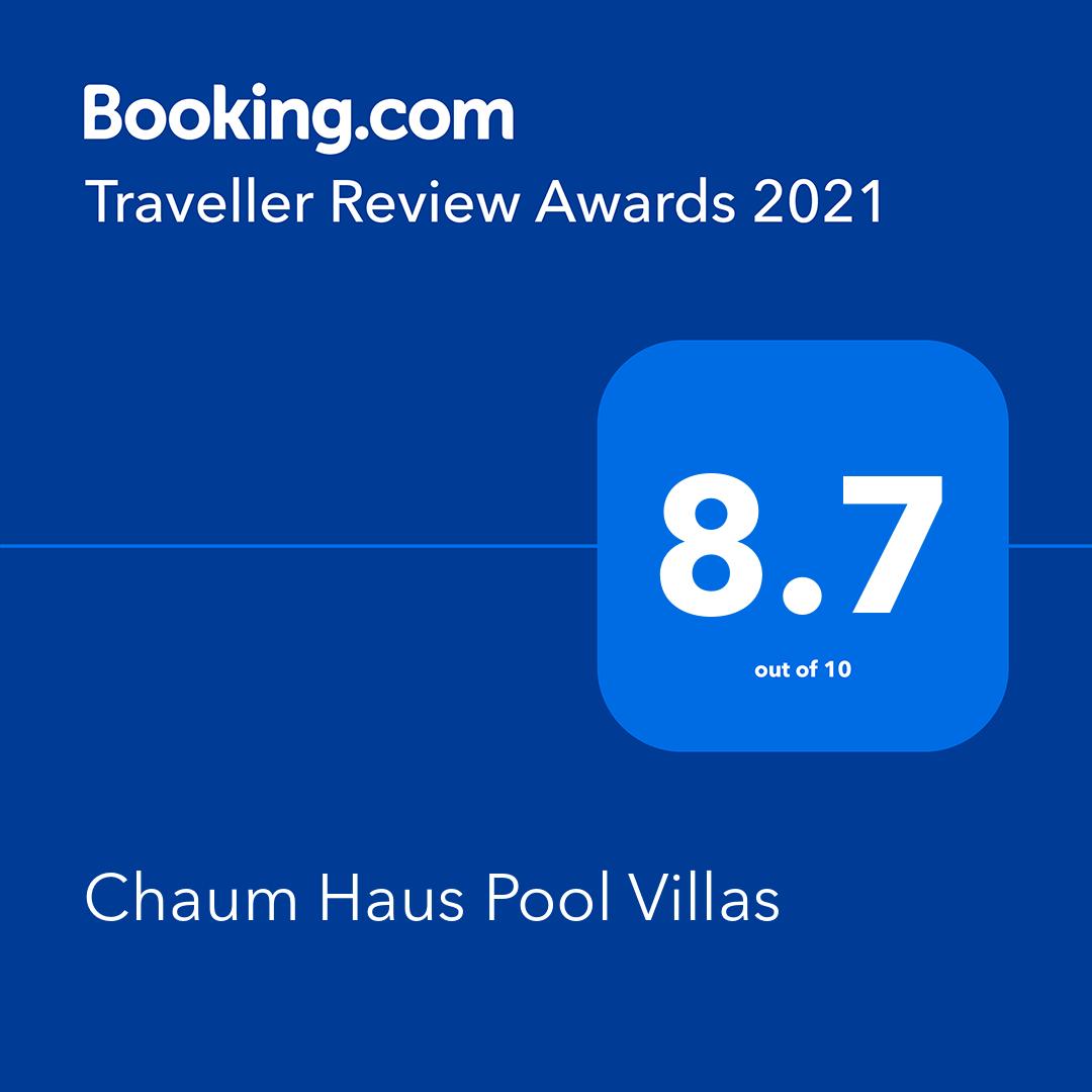 Chaum Haus Pool Villas - Booking.com Traveller Review Awards 2021